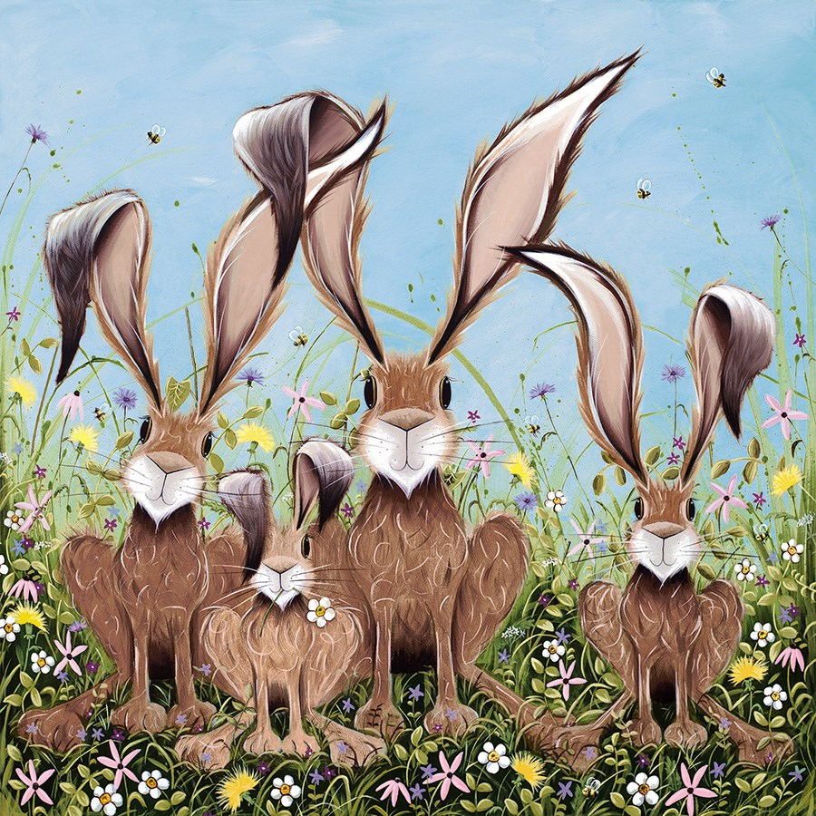 The McHoppers by Jennifer Hogwood - Embellished Limited Edition on Canvas sized 20x20 inches. Available from Whitewall Galleries